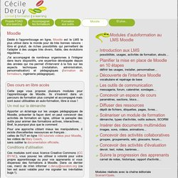 Cours Moodle - Cécile Deruy - consultante e-learning