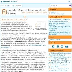 Moodle, écarter les murs de la classe - Page 2/2 - DANE de Poitiers