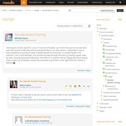Lounge: Moodle Books/Training