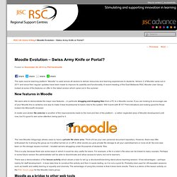 Moodle Evolution – Swiss Army Knife or Portal? - JISC RSC Blog