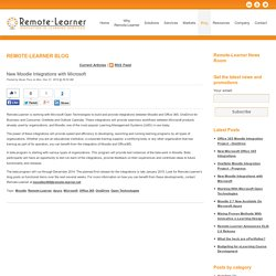 New Moodle Integrations with Microsoft