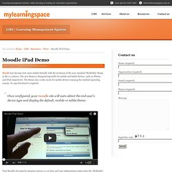 Moodle iPad Demo