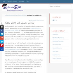 Build a MOOC with Moodle for Free