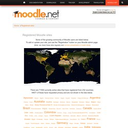Moodle.net: Registered sites