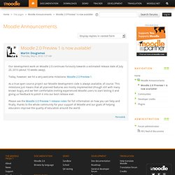 Moodle 2.0 Preview 1 is now available!