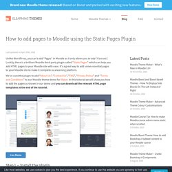How to add pages to Moodle using the Static Pages Plugin - eLearning Themes