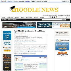 New Moodle 2.0 theme: Broad Study