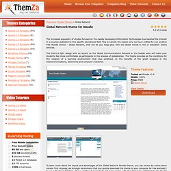 Free Moodle Themes: Global Network by ThemZa