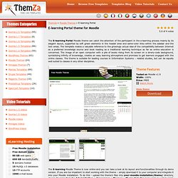 Free Moodle Themes: E-learning Portal by ThemZa