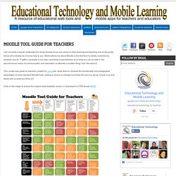 Moodle Tool Guide for Teachers