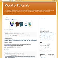 Moodle Tutorials