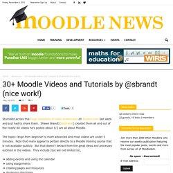30+ Moodle Videos and Tutorials by @sbrandt (nice work!)