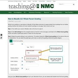 New to Moodle 3.8: Whole Forum Grading