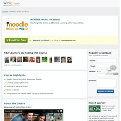 MOODLE MOOC on WizIQ: Online Course