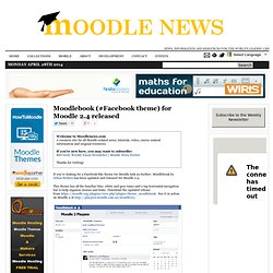 Moodlebook (#Facebook theme) for Moodle 2.4 released