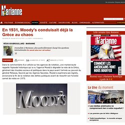 En 1931, Moody's conduisait déjà la Grèce au chaos