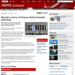 Moody's warns of Greece default despite debt deal