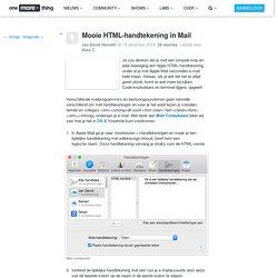 Mooie HTML-handtekening in Mail