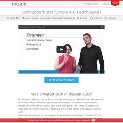 mooin: Kursinformation Schule 4.0