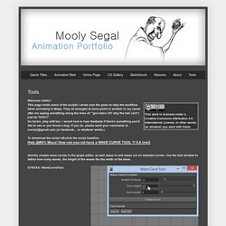 Mooly Segal Animation Portfolio: Tools