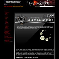 VoC Moon 2014 - Void of course Moon periods in 2014 - Find Your Fate