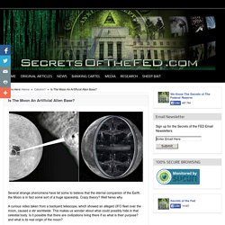 Is The Moon An Artificial Alien Base? – Secrets of the Fed