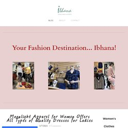 Moonlight Apparel for Women Offers All Types of Quality Dresses for Ladies