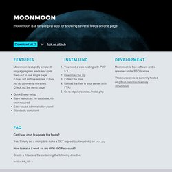 moonmoon: simple web based feed aggregator in PHP
