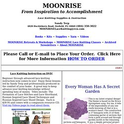 MOONRISE Lace Knitting Home Page