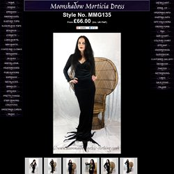 Moonshadow Morticia Dress by Moonmaiden Gothic Clothing UK