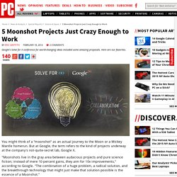 5 Moonshot Projects Just Crazy Enough to Work