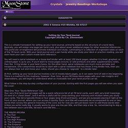MoonStone - Setting Up a Tarot Journal
