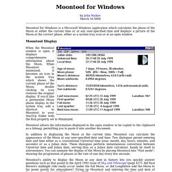 Moontool for Windows