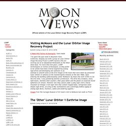 MoonViews - Providing Imagery and Data For Lunar Exploration