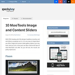 10 MooTools Image and Content Sliders