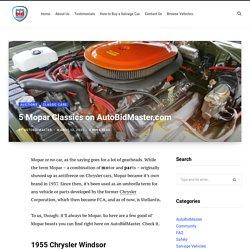 5 Mopar Classics on AutoBidMaster.com