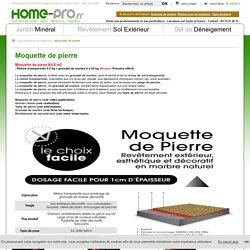 Moquette de pierre - Revetement sol extérieur - Home-Pro.fr -