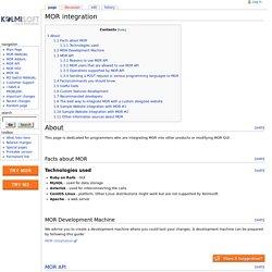 MOR integration - Kolmisoft Wiki