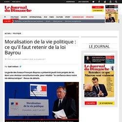 Moralisation de la vie politique : ce qu'il faut retenir de la loi Bayrou