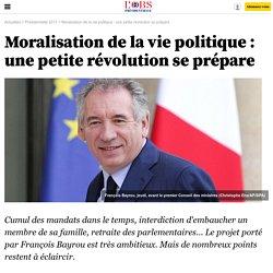 Moralisation de la vie politique : une petite révolution se prépare