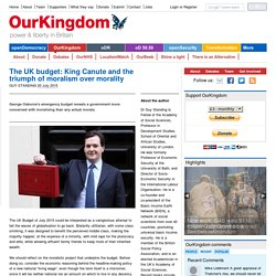 The UK budget: King Canute and the triumph of moralism over morality
