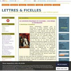 Les moralistes - LETTRES & FICELLES