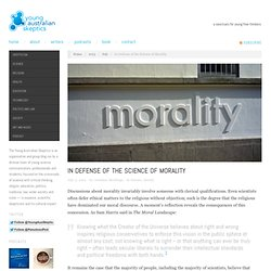In Defense of the Science of Morality