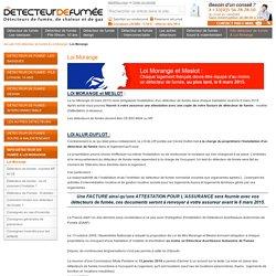 Loi Morange & détecteur de fumée obligatoire : date loi morange & info