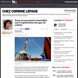 Pour un moratoire immédiat sur l'exploitation des gaz de schiste