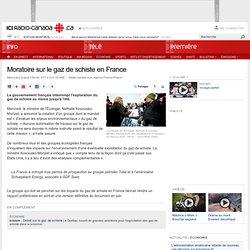 Ressources naturelles : Arrêt des forages de gaz de schiste en France