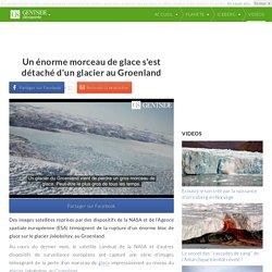 Un énorme morceau de glace s'est détaché d'un glacier au Groenland