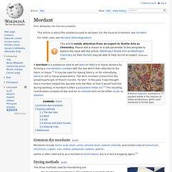Mordant