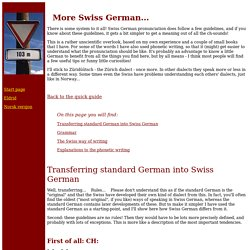 A more advanced Swiss-German page