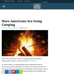 More Americans Are Going Camping